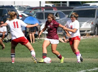 Maple Mountain junior Brinley Nelson is a midfield leader for the Golden Eagles. (Photo by Kurt Johnson)