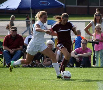 Senior Natalee Wells puts a lot of pressure on defenses. (Photo by Kurt Johnson)