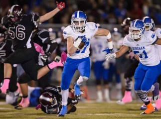 Bingham running back Brady Atkin went for 173 yards against Jordan. (Photo by Dave Argyle, dbaphotography.com)