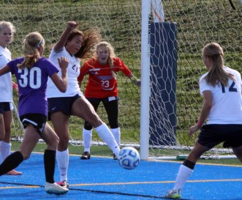 Goalkeeper Carly Nelson and the Timpanogos defense were busy Tuesday. (Photo by Kurt Johnson)