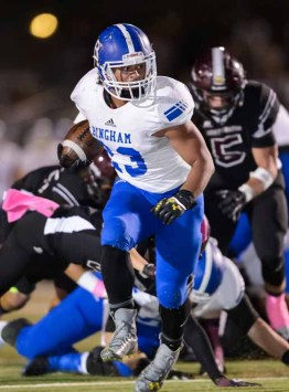 Jahvontay Smith ran for 175 yards Friday night for Bingham. (Photo by Dave Argyle, dbaphotography.com)