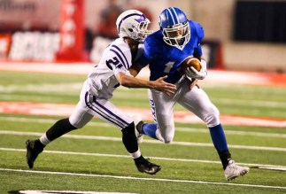 Bret Barben is one of Dixie's weapons in the passing game. (Photo by Kevin McInnis)