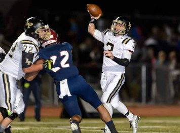 Talmage Gunther used his arm and legs to lead Lone Peak to an undefeated regular season. (Photo by Dave Argyle, dbaphotography.com)