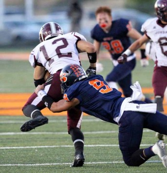 Jackson Kaufusi had 100 tackles for Brighton in 2015. (Photo by Christopher Lund)