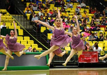 The 2014-2105 Juab High drill team competes at state. (Photo by Shane Marshall)