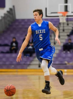 Tyler Bennett scored 25 points to lead Dixie to the Riverton Holiday Tournament title. (Photo by Dave Argyle, dbaphotography.com)