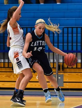 Layton's Hailey Bassett will play college basketball at Utah State. (Photo by Dave Argyle, dbaphotography.com)