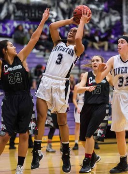 Riverton's Tiena Afu impresses on the court and in the classroom. (Photo by Dave Argyle, dbaphotography.com)
