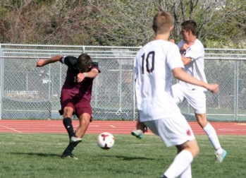 Lone Peak's Griffin Garcia scored a game-tying goal. (Photo by Kurt Johnson)