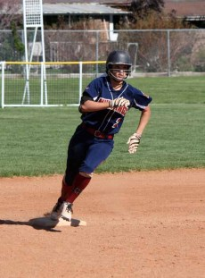 Herriman's Lauren Tycksen rounds second during a 2015 game. (Photo by Kurt Johnson)