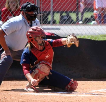 Ashlyn Visser was one of the state's top catchers while playing at Herriman. (Photo by Kurt Johnson)