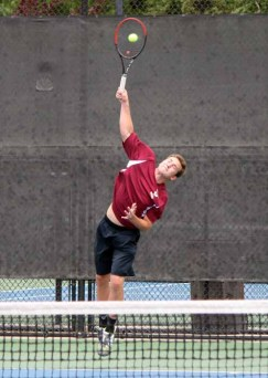 Mountain View's Jon Dollahite won four straight 4A No. 1 singles titles. (Photo by Kurt Johnson)