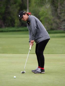 Masina Kaohelaulii was the top individual  finisher for Lone Peak's girls golf state title winner. (Photo by Kurt Johnson)