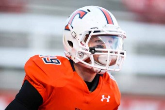 Kyle Van Leeuwen scored three TDs on opening night for Timpview. (Photo by Kevin McInnis)