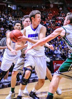 Schyler Shoemaker was MVP of Bingham's state tournament title. (Photo by Kevin McInnis)