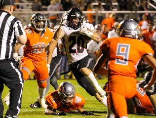 Josh Davis is in a race to be the state's all-time rushing leader. (Photo by Kevin McInnis)