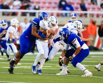 The Bingham defensive front seven continues to dominate. (Photo by Kevin McInnis)