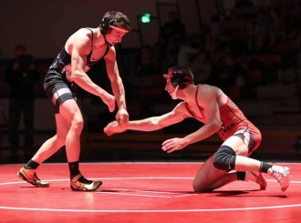 Riverton's Dylan Gregerson started wrestling to get in shape for football. (Photo by Dave Sanderson)