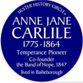 Carlile Blue Plaque