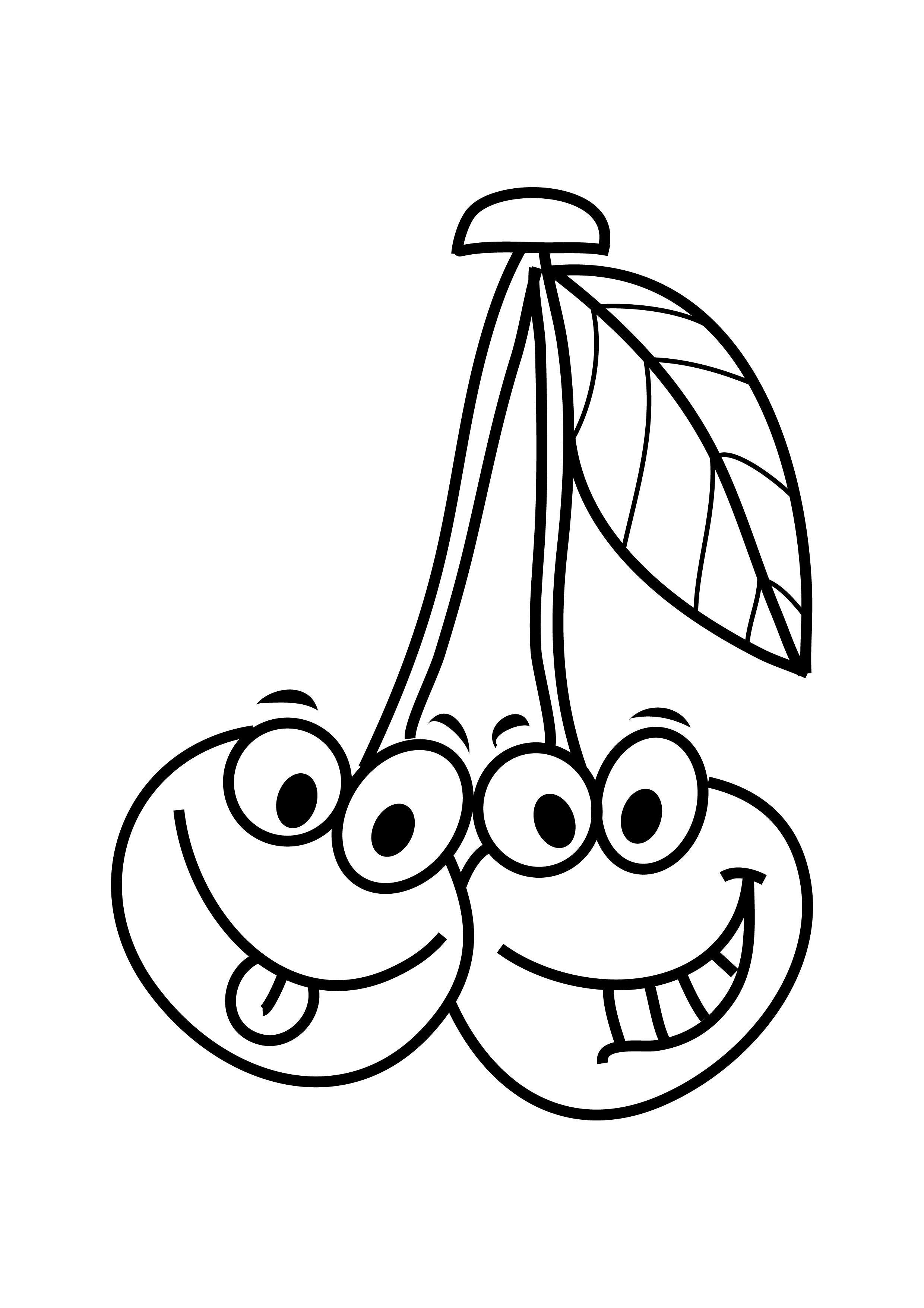 Smart Fruits And Vegetables Coloring Pages
