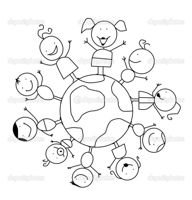 World Thinking Day mandala coloring page (20)  Crafts and