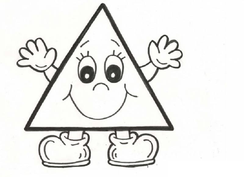 Triangle Coloring Page 1 Crafts And Worksheets For Preschool Toddler And Kindergarten