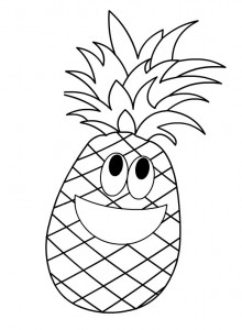 Cartoon Fruits Coloring Pages Crafts And Worksheets For
