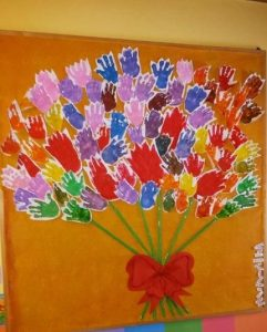 Handprint Flower Craft Idea For Kids Crafts And