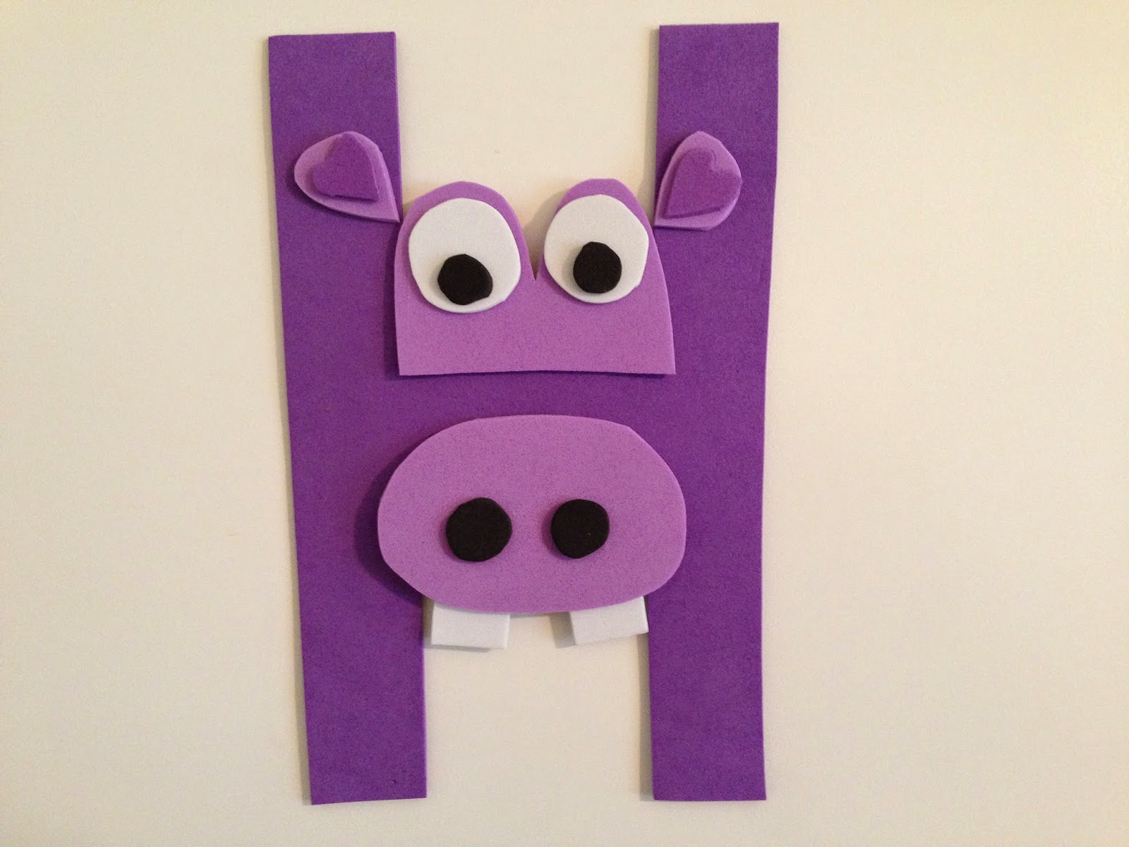 Hippo Craft For Teach Letter H