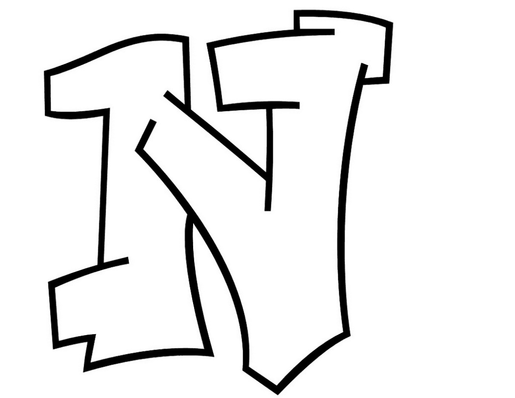Letter N Coloring Pages For Kids