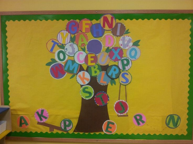 All Letters Bulletin Boards Preschool And Kindergarten