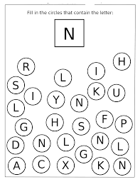 Letter N Worksheets For Preschool And Kindergarten
