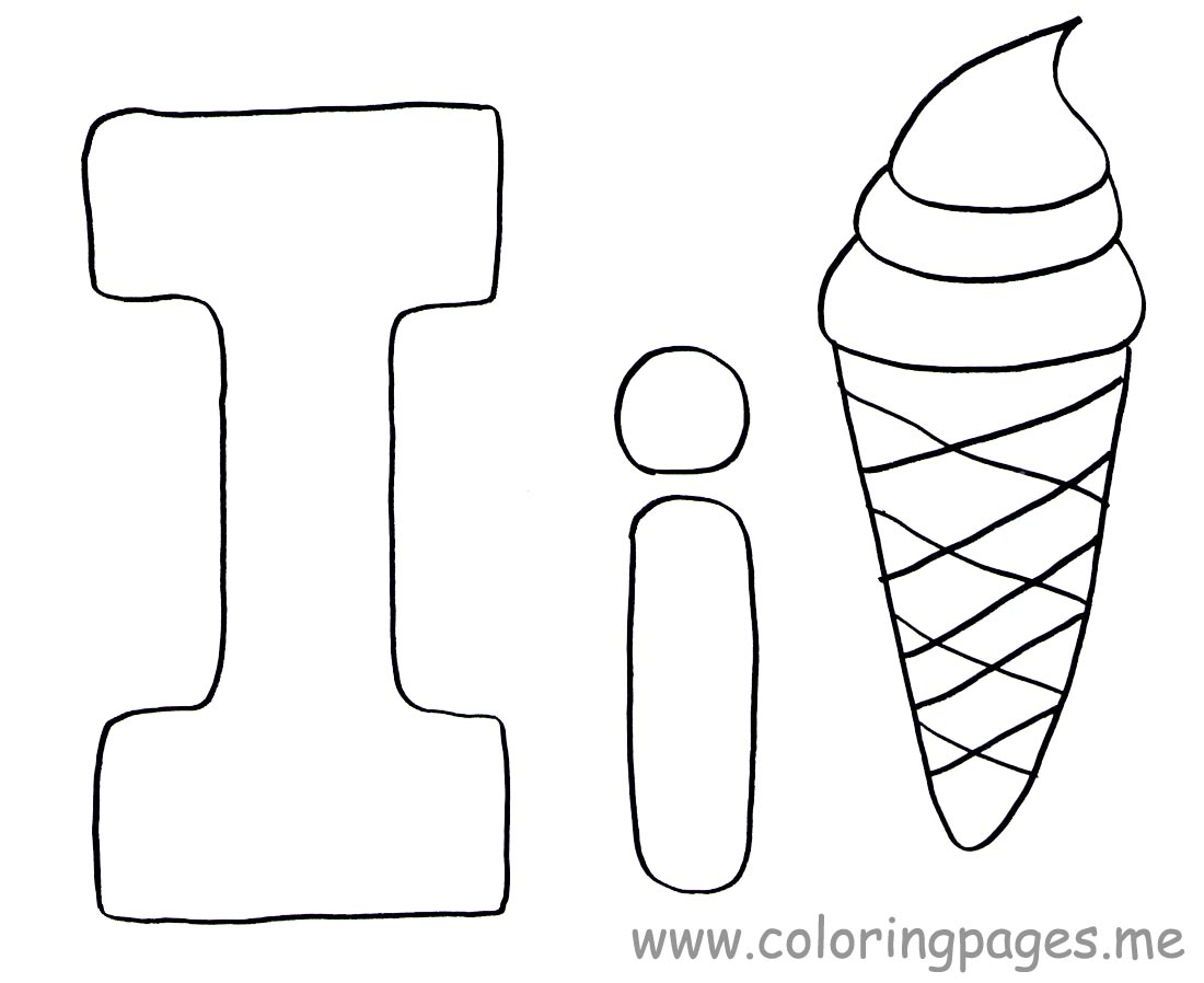 Letter I Coloring Pages