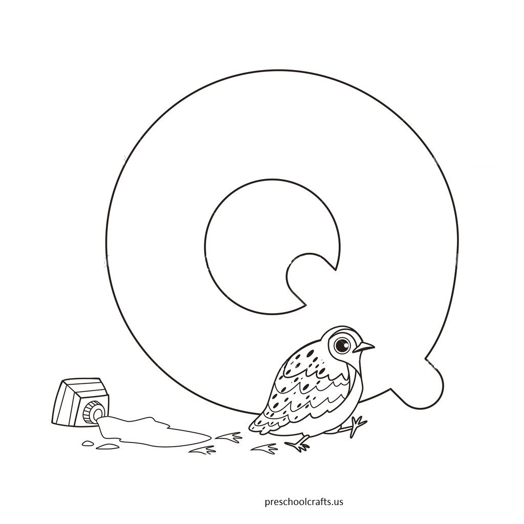 Letter Q Coloring Pages For Kids