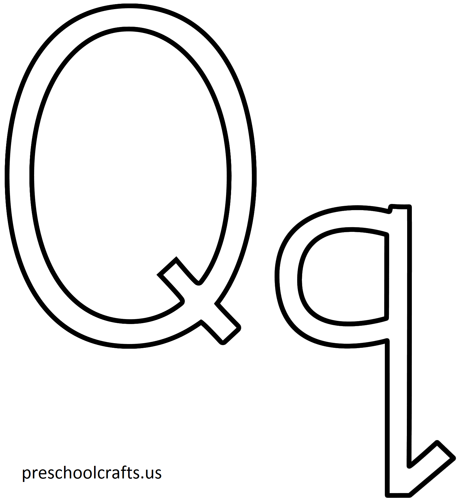 Letter Q Coloring Pages For Preschool