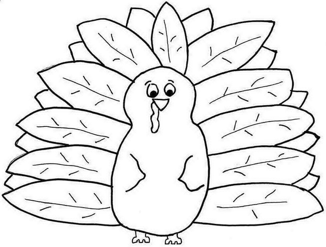 Printable Free Colouring Sheets Thanksgiving Turkey For