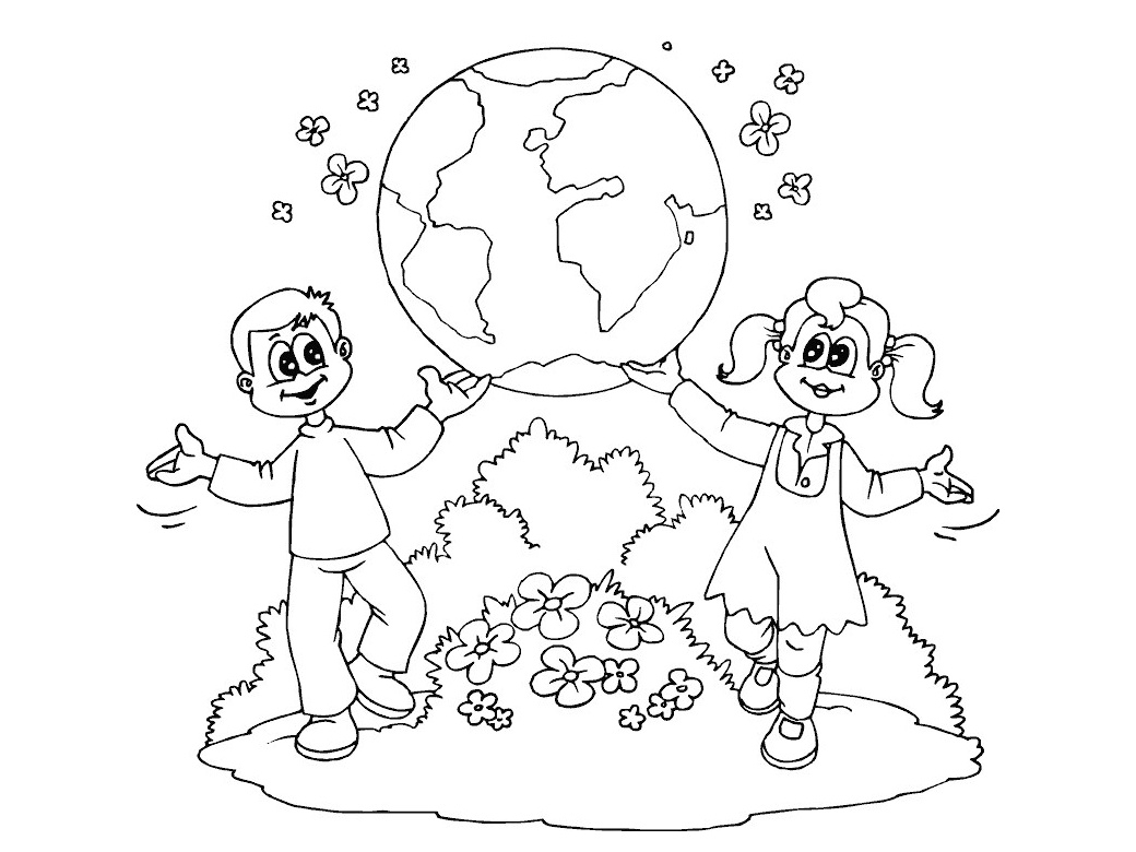 World Day Earth Day Printable Coloring Pages For Preschool