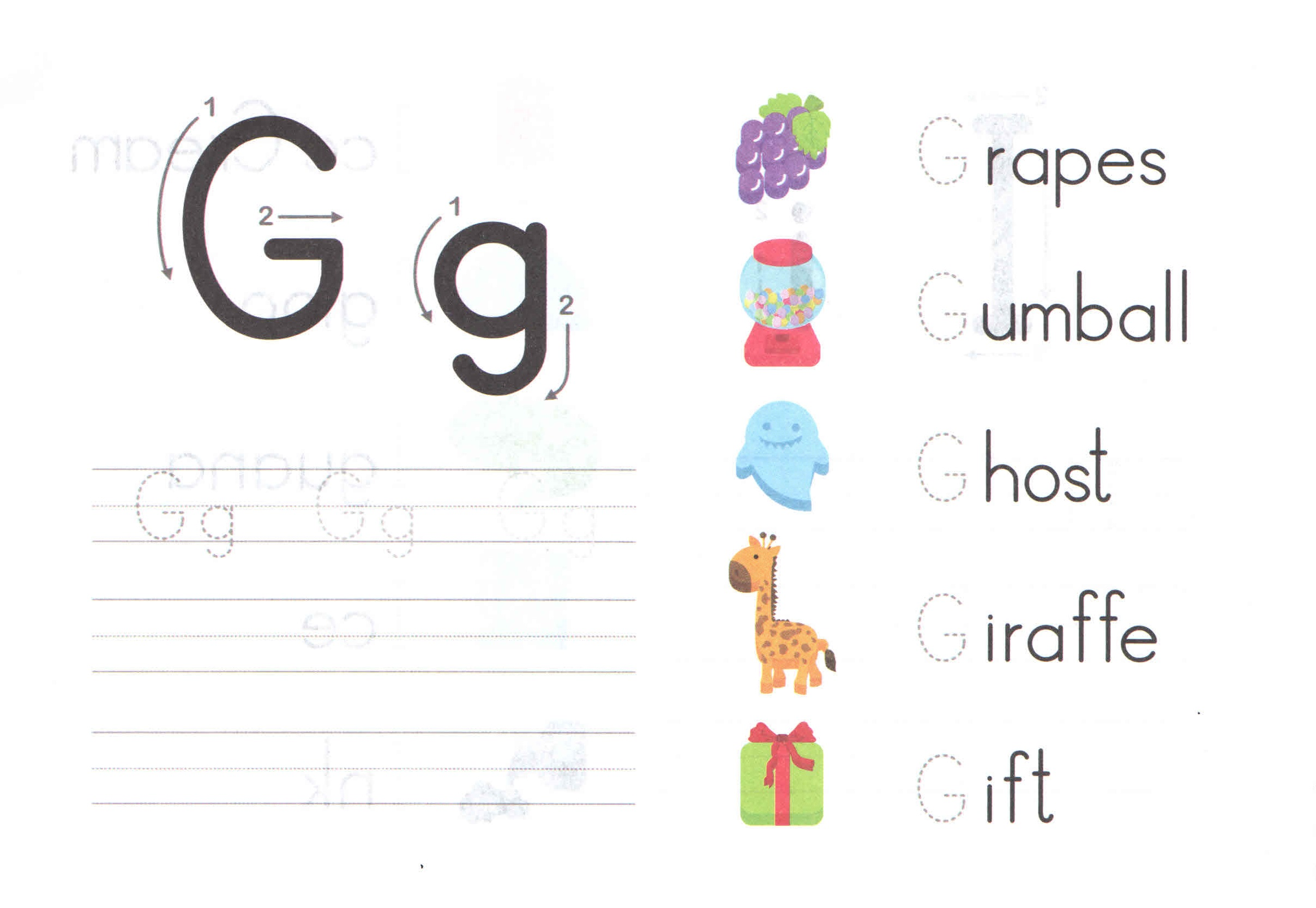 Letter G Worksheets For Toddlers