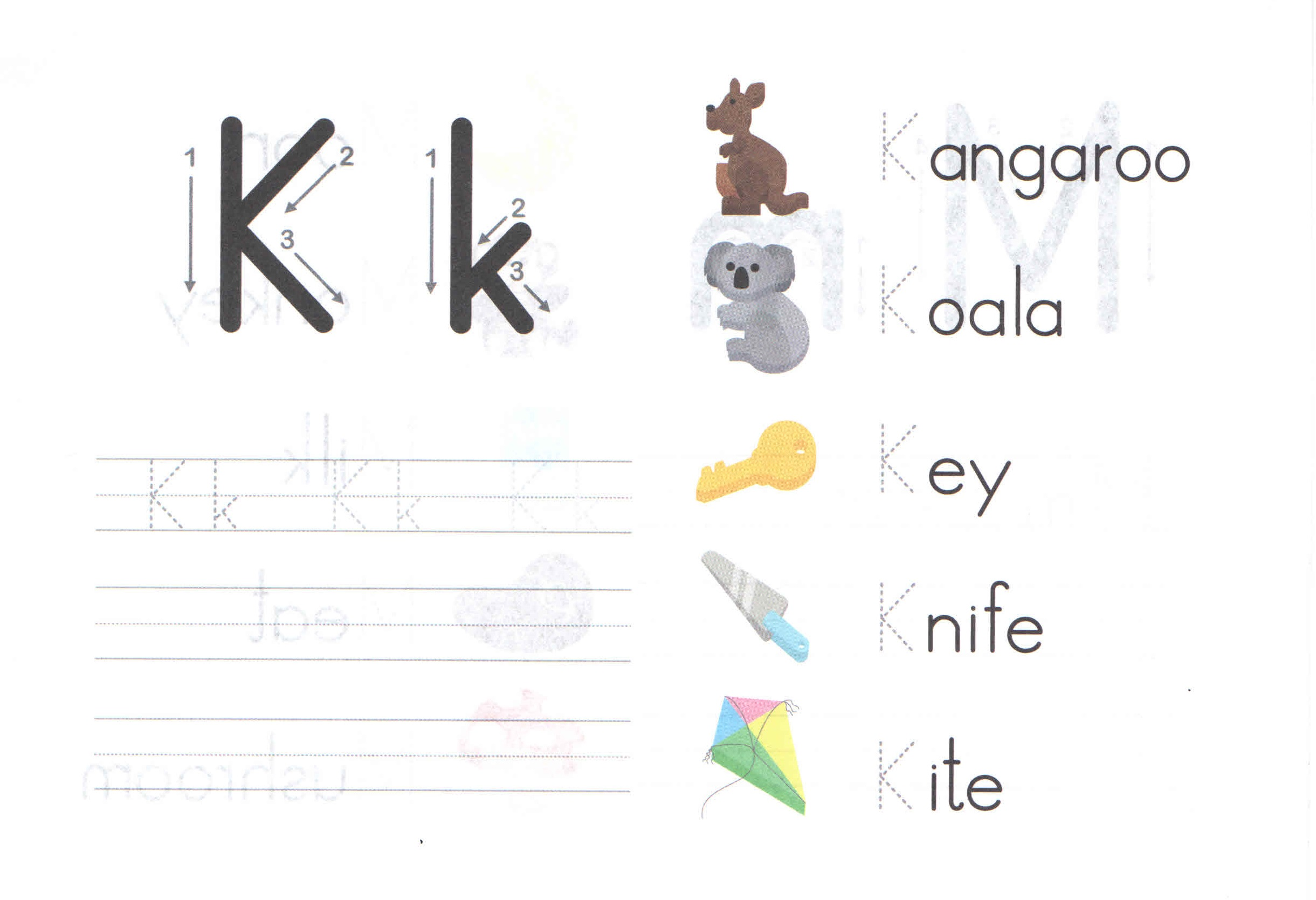 Alphabet Capital And Small Letter K K Worksheet For Kids