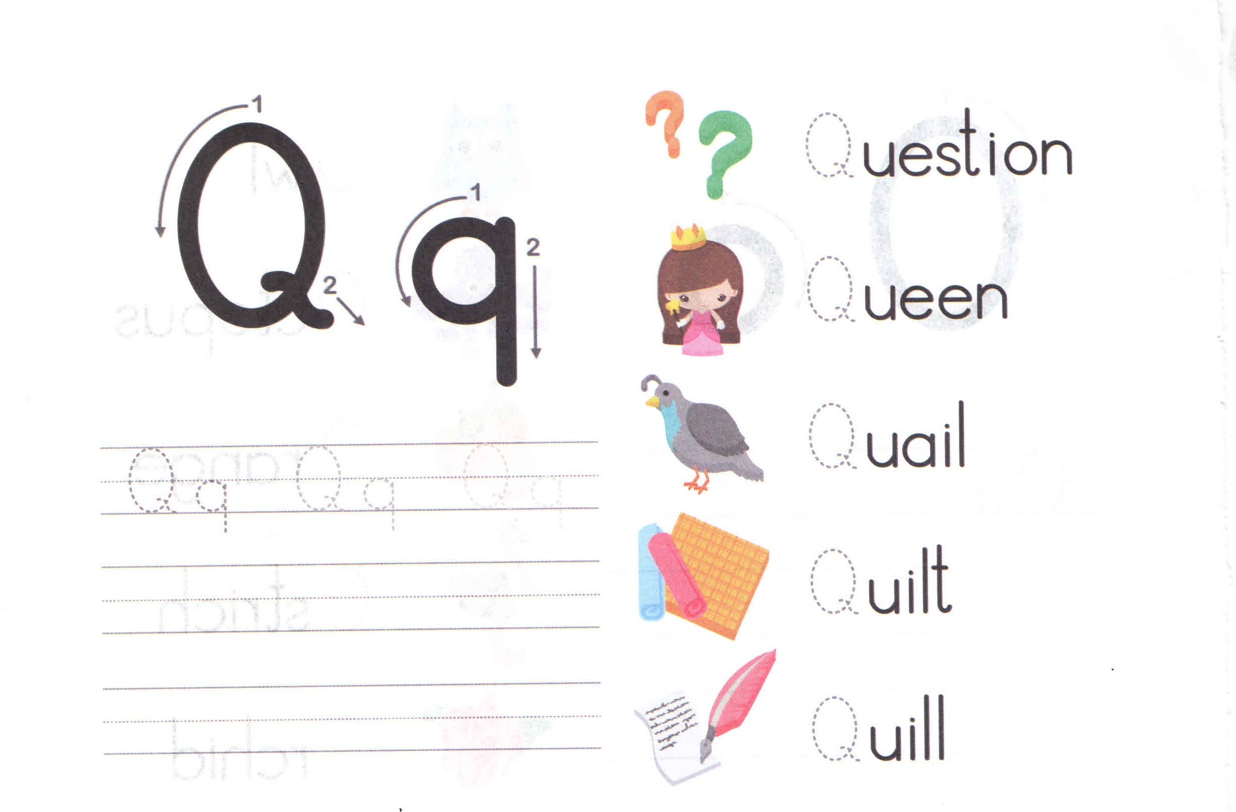 Alphabet Capital And Small Letter Q Q Worksheet For Kids