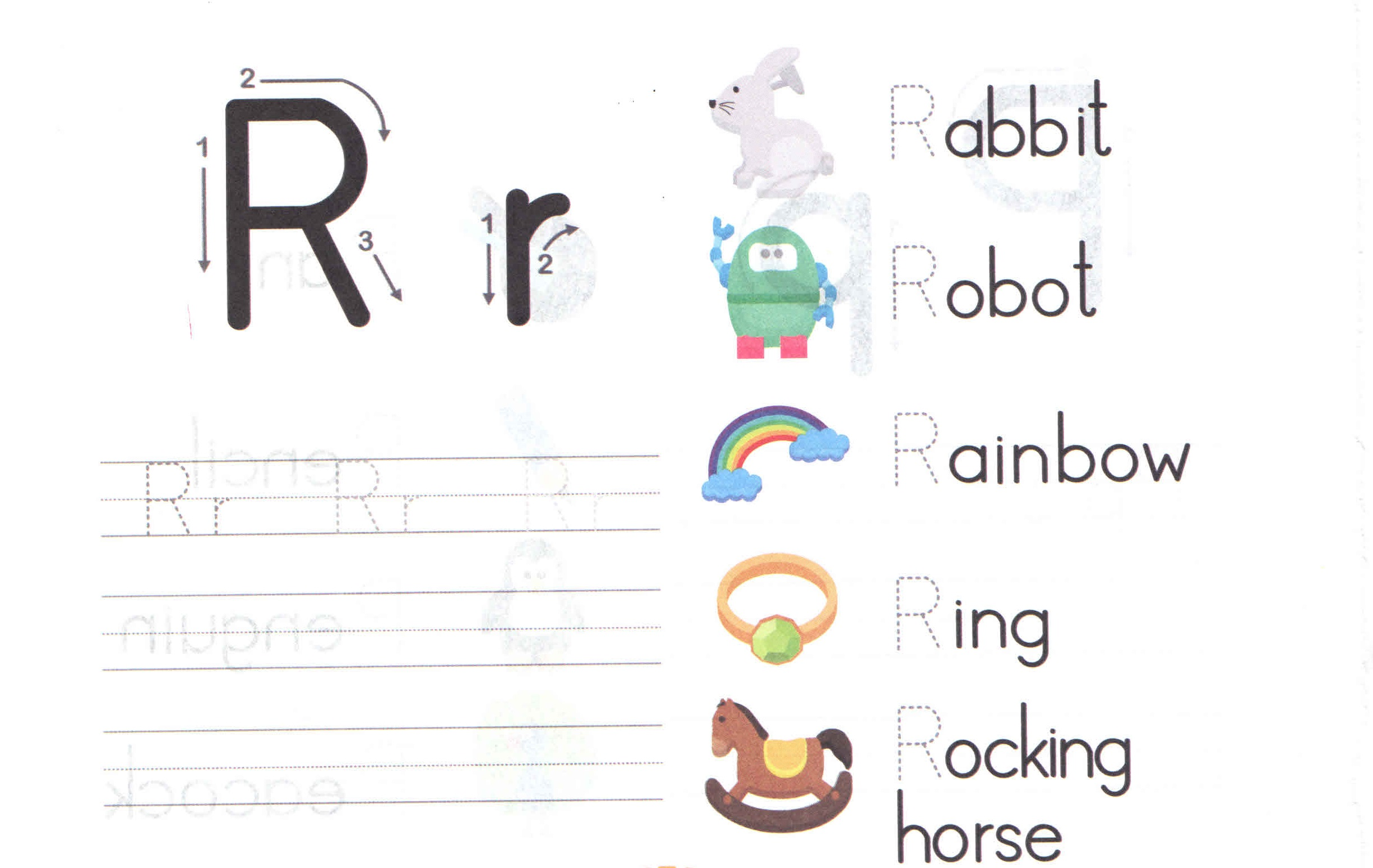 Alphabet Capital And Small Letter R R Worksheet For Kids