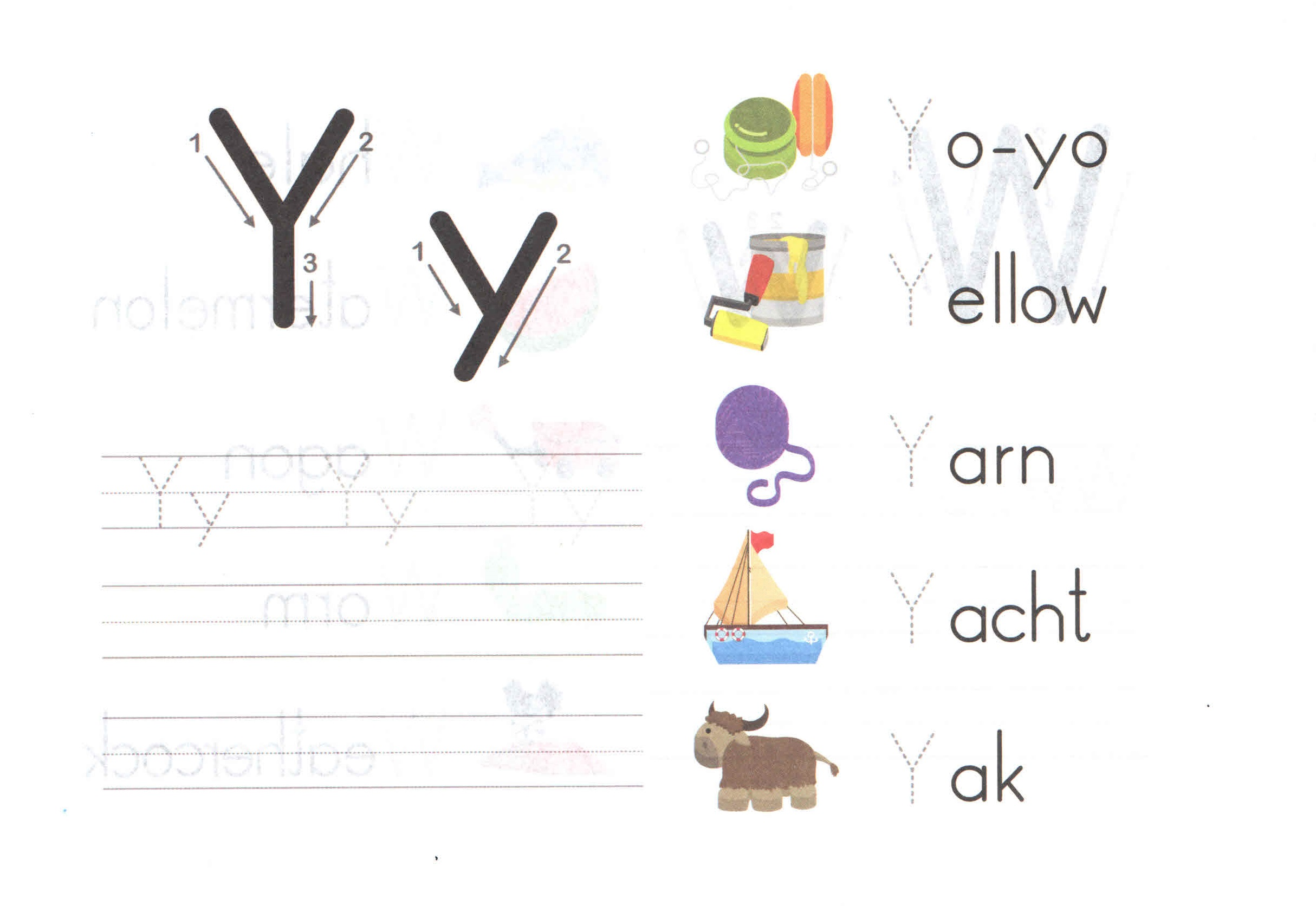 Alphabet Capital And Small Letter Y Y Worksheet For Kids