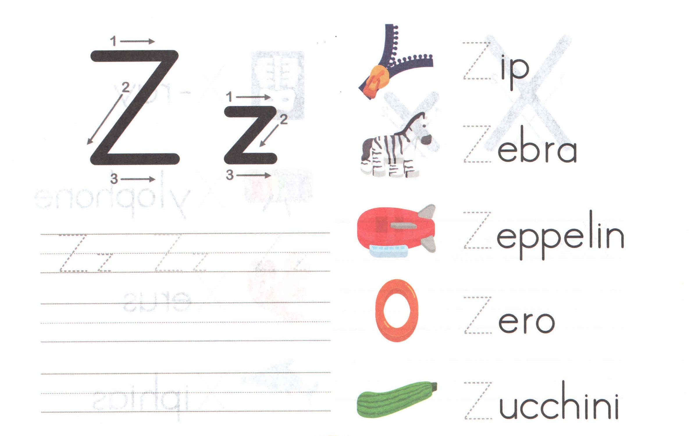 Alphabets Z For Kids