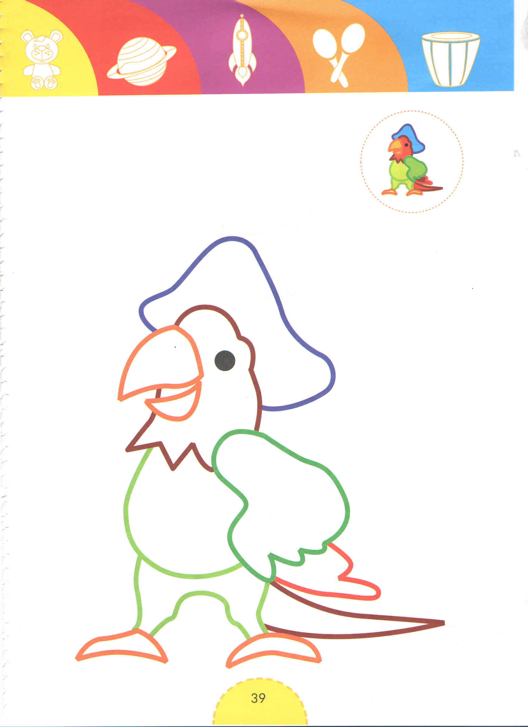Pirate Parrot Tale Heroes Coloring Pages For Kids