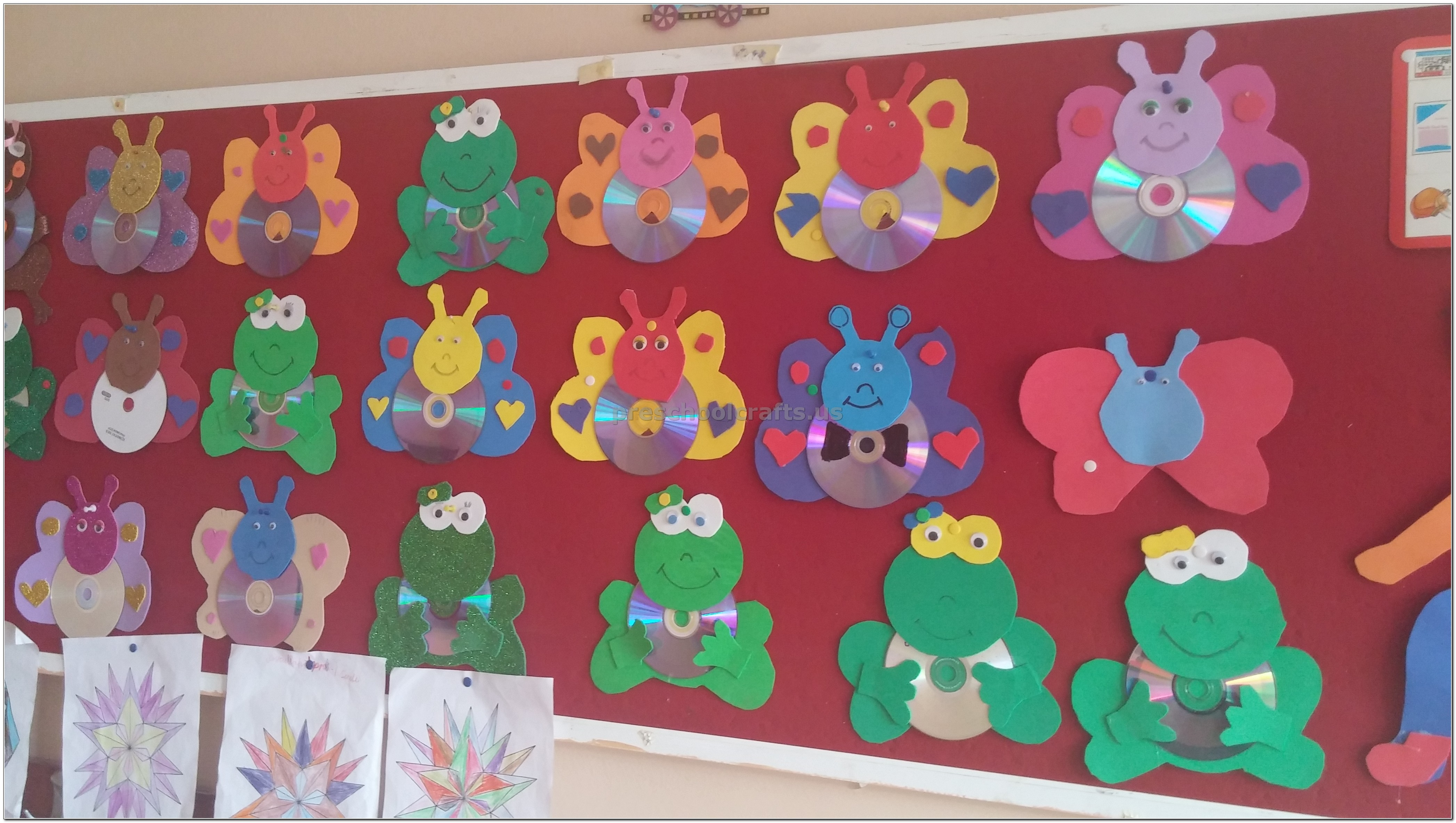 Cd Crafts Ideas Butterfly And Frog