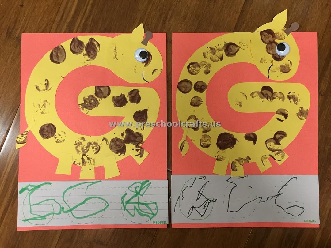 Alphabet Crafts Letter G Crafts For Preschool