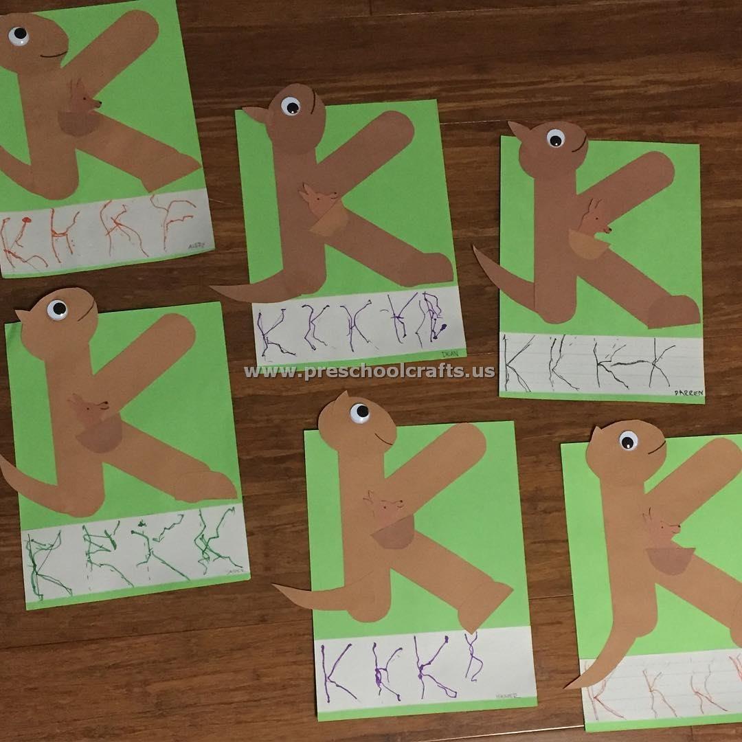 Alphabet Crafts Letter K Crafts For Preschool