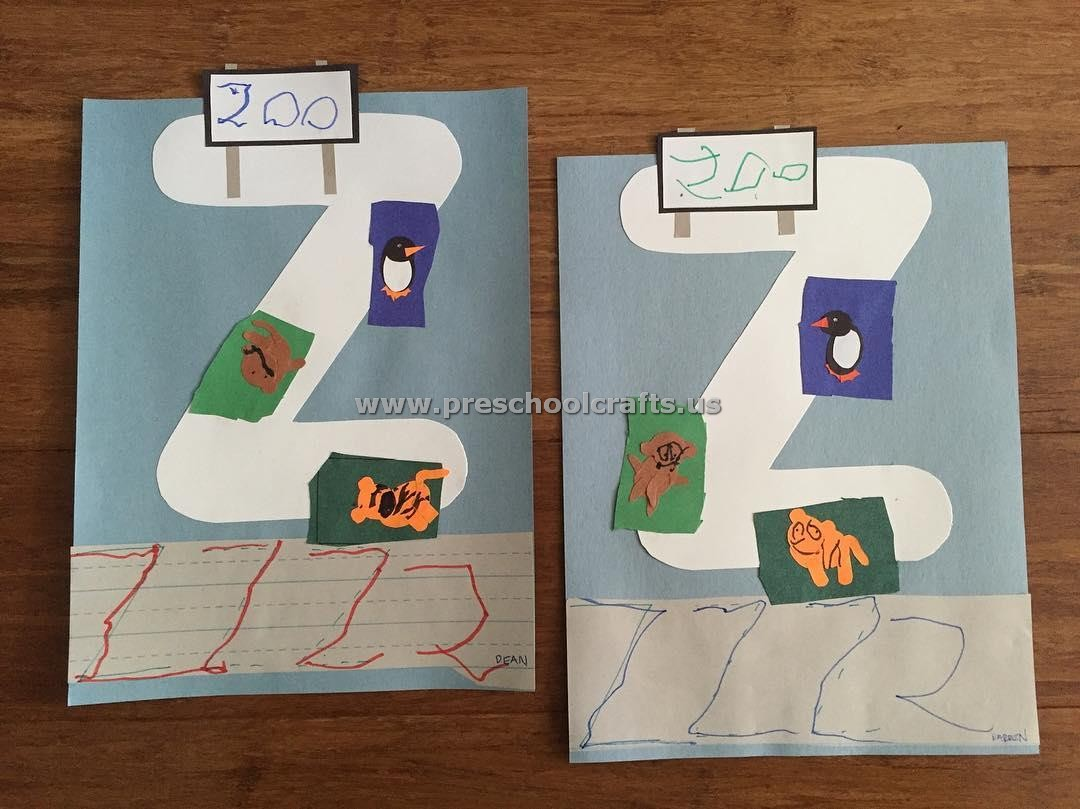 Alphabet Crafts Letter Z Crafts For Preschool