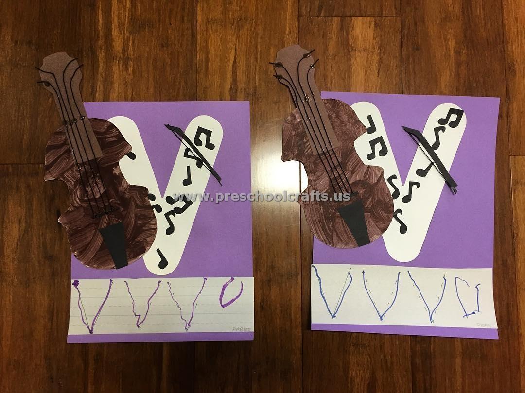 Letter V Crafts For Preschool Enjoy