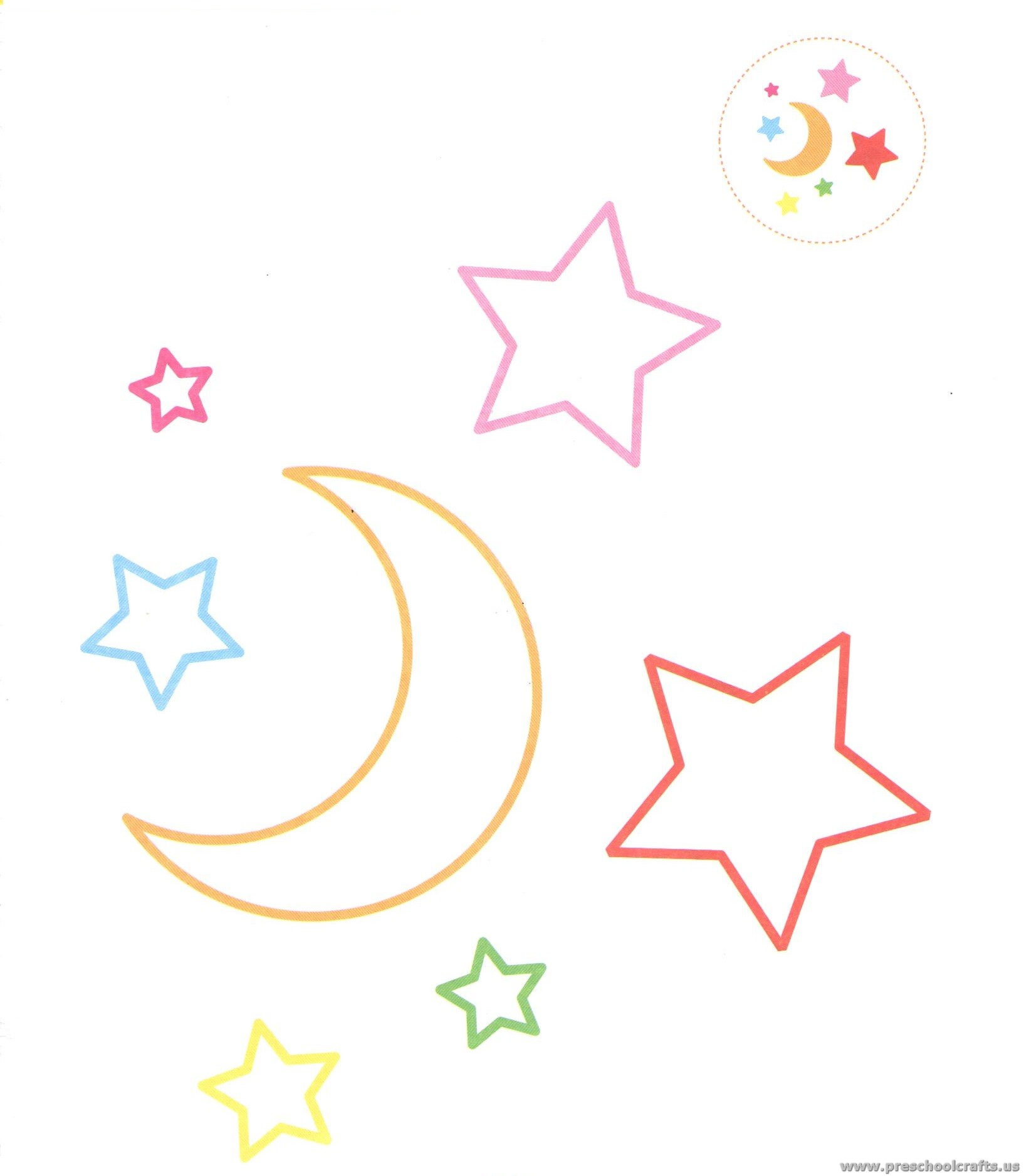 Outer Space Coloring Pages For Preschool